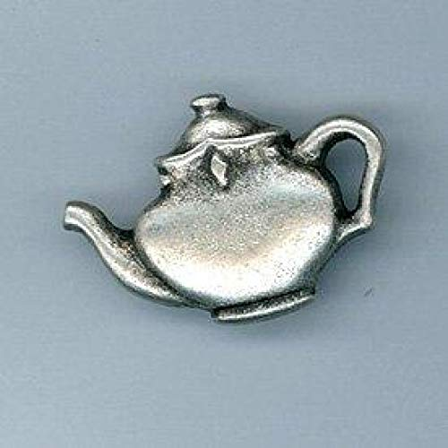 Metal Teapot Buttons Silver - per Pack of 50 ()