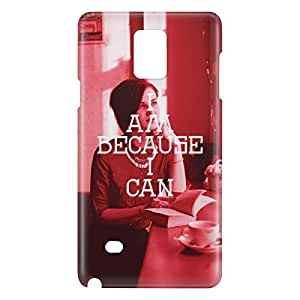 Loud Universe Galaxy Note 4 I Am Because I Can Print 3D Wrap Around Case - Red/White