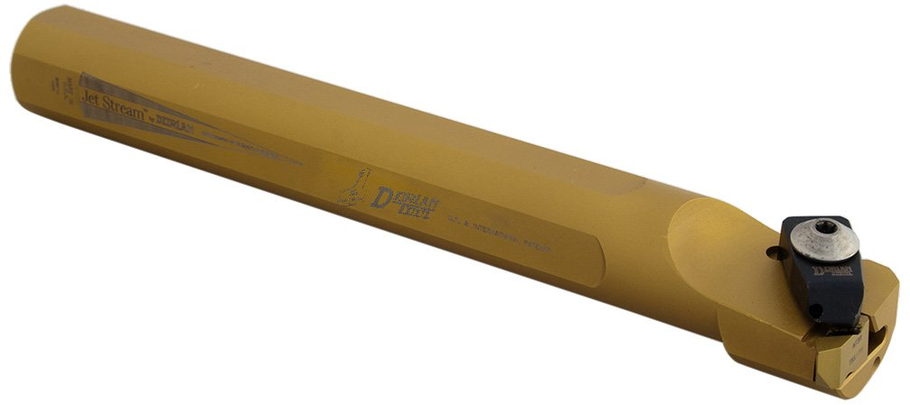 Dorian Tool AS-ADNE Jet-Stream Square Shank Chromium Molybdenum Steel Thru Coolant DorNotch Threading Boring Bar, Left Hand Cut, 10' Overall Length, 1-1/2' Shank Diameter, 3/16' Insert 10 Overall Length 1-1/2 Shank Diameter 3/16 Insert 73310153495