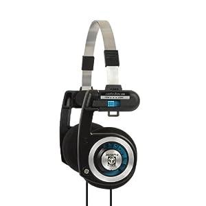 Koss Porta Pro On Ear Headphones with Case, Black / Silver