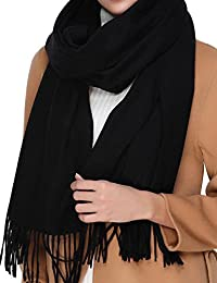 Cashmere Wool Scarf,Large Soft Women Men Scarves Winter Warm Shawl Gift