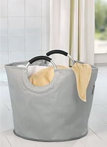 wenko 3440004100 panier linge gris pour le tri des d chets. Black Bedroom Furniture Sets. Home Design Ideas