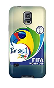 Hot Style KDDBgOa2551QFmcK Protective Case Cover For Galaxys5(world Cup 2014 Brasil Logo Lockscreen Iphone 5)