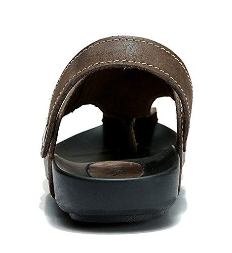 DQQ Mens Fashion Leather Thong Flip Flop Sandal B kRVgTUKW1h