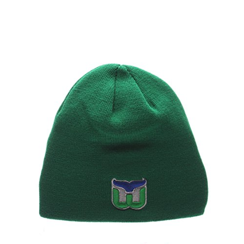 hartford-whalers-green-edge-skull-cap-nhl-cuffless-winter-knit-beanie-toque-hat