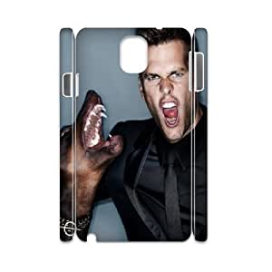 3D Tom Brady Series, Samsung Galaxy Note 3 Cases, Tom Brady...watch Out Cases For Samsung Galaxy Note 3 [White]