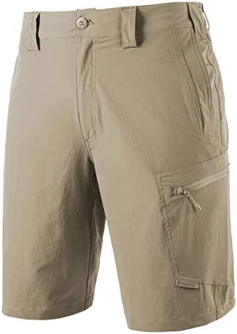 FREEKITE Mens Outdoor Ripstop Cargo Shorts Lightweight Quick Dry Hiking Tactical Work Shorts
