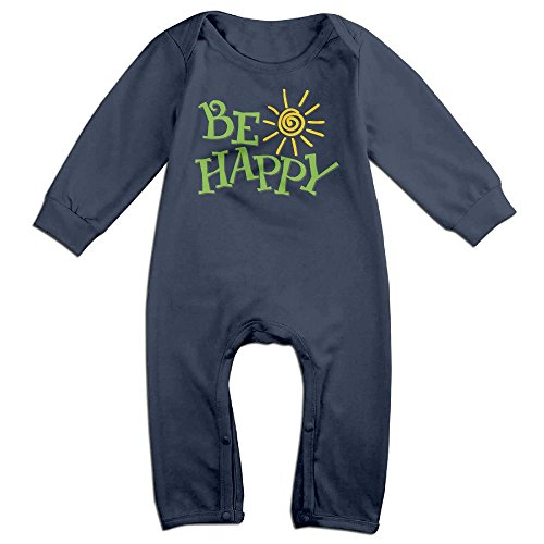 Tongbu Be Happy Baby's Bodysuit Climb Clothes Boy & Girl Soft Cotton Long Sleeve Romper Jumpsuit 6 MNavy (Halloween Song In French Lyrics)