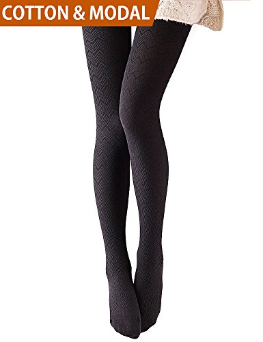 VERO MONTE 1 Pair Stretchy Tights Hue Tights 4 Women Control Top Tights (BLACK) (Control Cotton Top Tights)