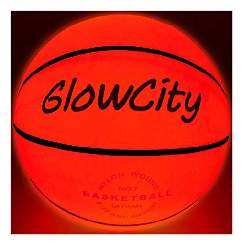 GlowCity Light Up Basketball-Uses Two High Bright LED's (Official Size and Weight) -