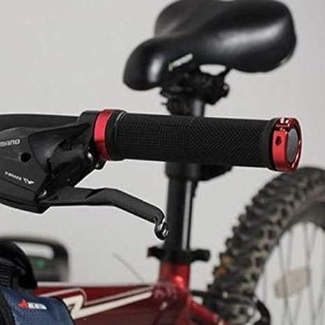 1 Paar MTB BMX Road Cycling Lenkergriffe Antirutsch-Gummi Fahrrad Griffe Mountain Bike Lock On Fahrrad Lenker Endgriffe Schwarz