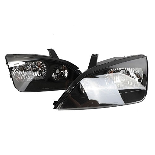 - 2PC Driver & Passenger Headlights Headlamps Set Replacement for 2005 2006 2007 Ford Focus