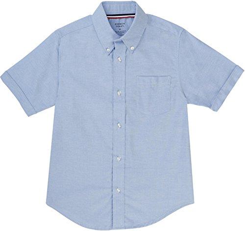 (French Toast School Uniform Boys Short Sleeve Oxford Shirt, Blue, 8)