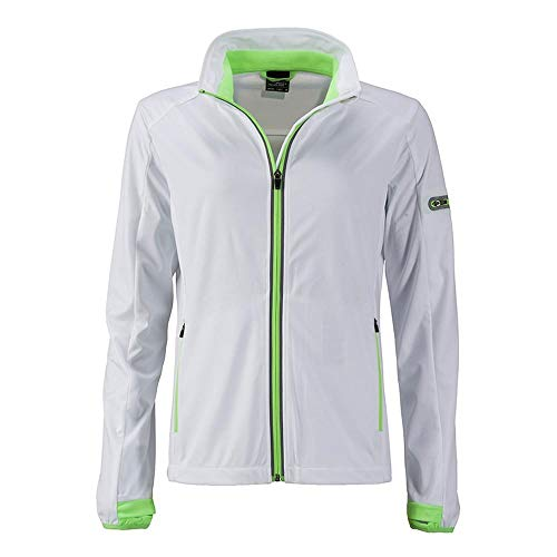 Blanco Mujer Deportiva Chaqueta Para And verde Nicholson James Fuerte Softshell Hqx0Fnw
