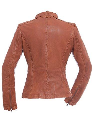 Magnifica Shelly Veste en cuir pour femme en couleur DK. Cognac Taille S–XXL