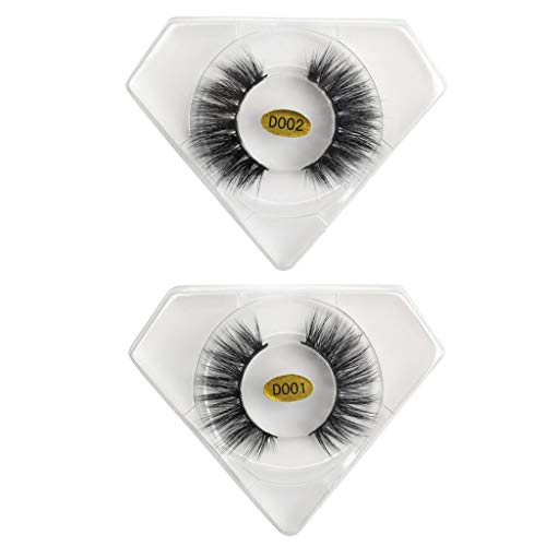 Wenini False Eyelashes, 2019 New Luxury Handmade Reusable 20 Pairs of 3D Mink with Soft Long Curly and Warped Many Layer Eyelashes