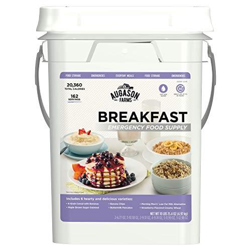 Augason Farms Breakfast Emergency Food Supply 11 lbs 1.8 oz 4 Gallon Pail