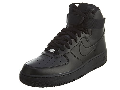 Nike Men's Air Force 1 High 07 Basketball Shoe, FLT Black, 9 (One Basketball Shoes)
