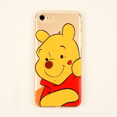 hot sale online 35778 3700f Ultra Slim Soft TPU Clear Trasparent Winnie The Pooh Bear Case for iPhone6  iPhone6s iPhone 6 6s Regular Yellow Red Heart Love Disney Cartoon ...