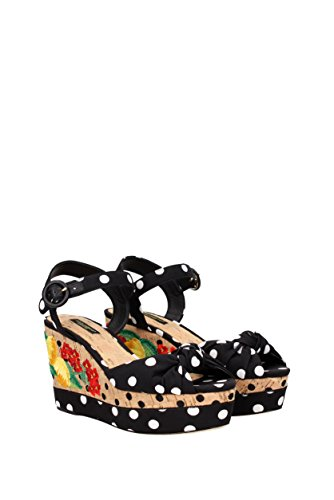 Sandalen Dolce&Gabbana Damen - Stoff (C18933AF344) EU Schwarz