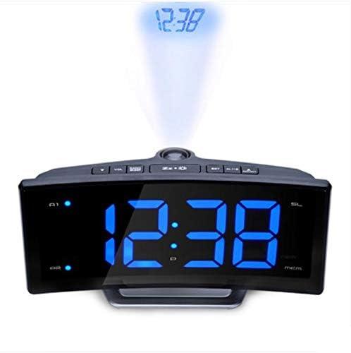 WDDqzf Espejo Radio FM Reloj Despertador LED Mesa Digital Digital ...