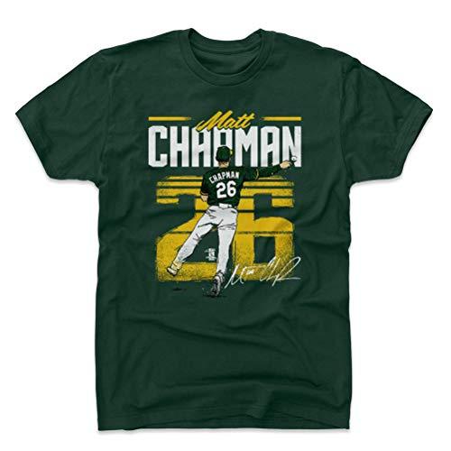 500 LEVEL Matt Chapman Cotton Shirt Large Forest Green - Oakland Baseball Men's Apparel - Matt Chapman Retro Y WHT