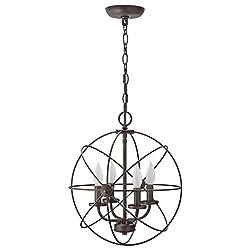 """Kira Home Orbits II 15"""" 4-Light Modern Sphere"""
