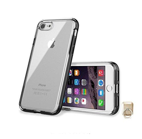 羽変化石の(アイフェイス) iFace Gentle iPhone 8Plus/7Plus Case子供フェイスジェントルiPhoneの8プラス/7プラスケース+ Rubystone CellPhone Ringr (Black) [並行輸入品]
