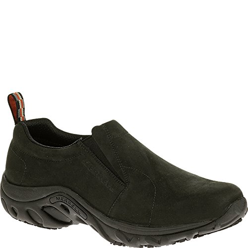 Merrell Men's Jungle Moc Pro Grip Nubuck Slip-Resistant Work Shoe, Black, 7.5 M US