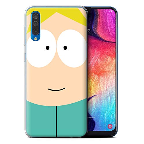 Phone Case for Samsung Galaxy A50 2019 Funny South Park Inspired Butters Design Transparent Clear Ultra Soft Flexi Silicone Gel/TPU Bumper Cover