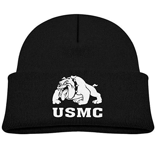 YERZ Marine Bulldog-USMC Unisex Baby Beanie Hat Toddler Infant Newborn Soft Knit Cap (Bulldog Marines Usmc)