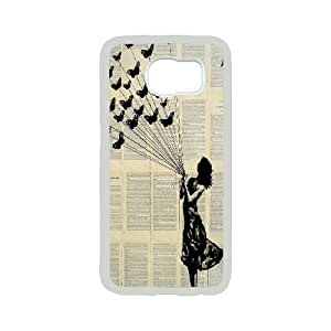 Unique draw Loui Jover Pen and Ink drawing Hard Plastic phone Case Cover For Samsung Galaxy S6 ZDI117013