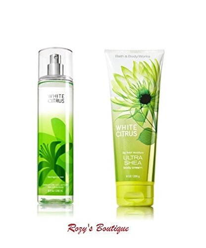 Bath & Body Works – Signature Collection – WHITE CITRUS- Gift Set- Fine Fragrance Mist 8 FL Oz & Ultra Shea Body Cream