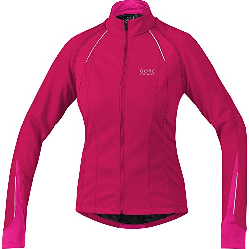 GORE BIKE WEAR 3 in 1 Women's Soft Shell Road Cycling Jacket, GORE WINDSTOPPER, PHANTOM LADY 2.0 WS SO Jacket, Size 38, Pink/Magenta, - Softshell Cycling