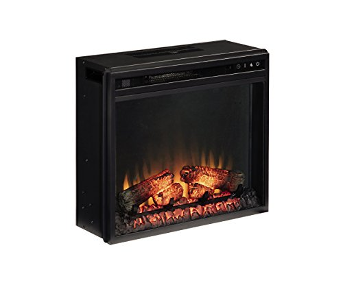 PuraFlame 26 Inches Western Electric Fireplace Insert with Remote Control 750//1500W Black