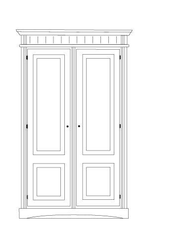 Gradel Lara Schrank mit 1 Einlegeboden und 1 Kleiderstange (zerlegbar) in Fichte massiv - Weiss lackiert, Holzmaserung sichtbar
