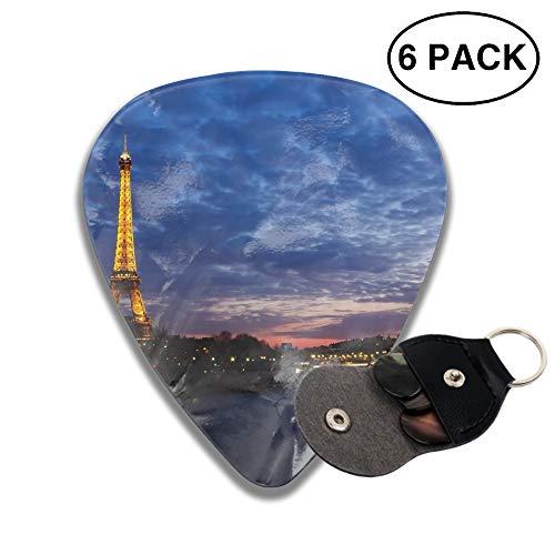 Dusk Eiffel Tower - Eiffel Tower Dusk 3D Printed Custom Guitar Picks 6pcs Celluloid Bass Celluloid Material Same Pattern on Both Sides 0.46mm/0.71mm/0.96mm