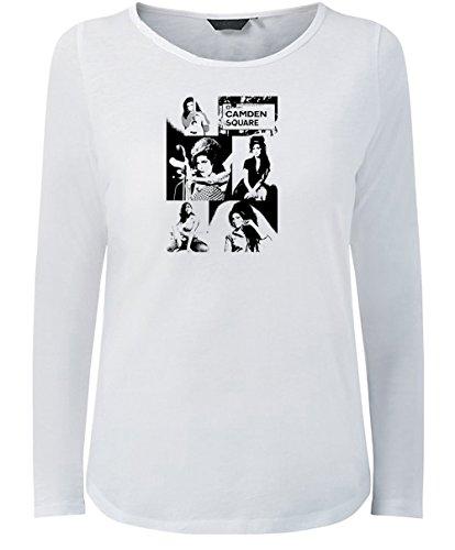 Vintage Magazine Company - Camiseta de manga larga - para mujer blanco