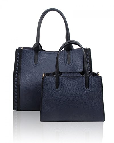 LeahWard Women's 2 IN 1 Bags Large Tote Bag Handbags For Women School 8777 Navy