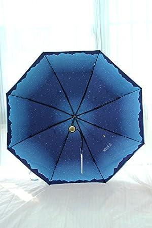 MAYUAN520 Paraguas Super Ligero Bloqueador Solar Fibra De Carbono Plegado Paraguas Sombrilla Vinilo Paraguas,Verde