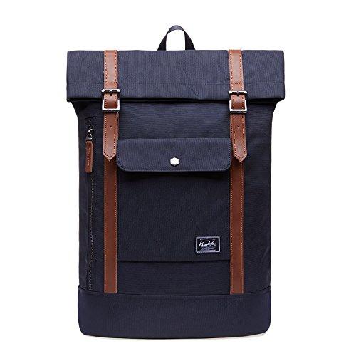 KAUKKO Stylish Oxford Fabric Backpack Travel Rucksack lightweight Hiking Bag Satchel (5black)