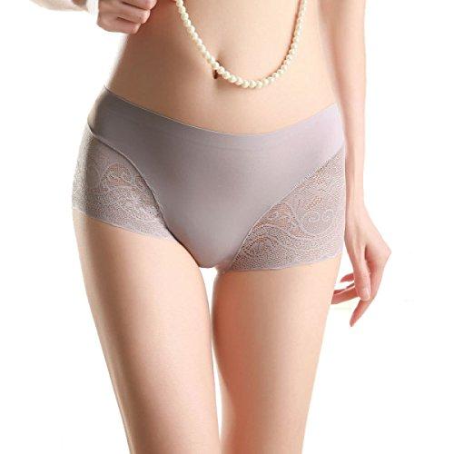 Del Bikini Bragas 4 De La Mujer Del Paquete Plano Atractivo Del Cordón De Seda De Hielo Puro Entrepierna De Algodón De La Cintura No Trace A6