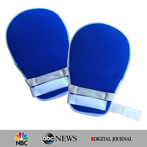 - My Finger Control Mitts, Hand Protector Padded Mitts for Universal Fit on Any Hand, Blue