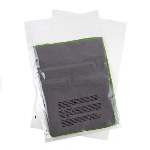 Poly Bags with Suffocation Warning - 14x20 Extra Strong Seal - 200 Pack - Clear Poly Bags 14x20 - Range of Sizes Available - Retail Supply Co from Retail Supply Co