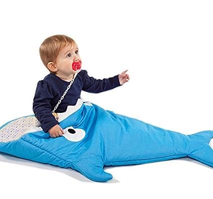 neugeboren Saco de dormir Tiburón bebé de invierno einschlagdecke, universal para portabebés, Auto