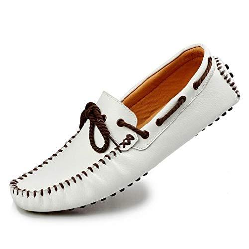 Zapatos Fall Slip Shoe amp; Cuero Hombre amp; y de Cuero On Loafer Planos Un Comfort Zapatos Daily para Smart Botes Cordones embarcaciones Spring Summer Work Hxrnv0HBqw