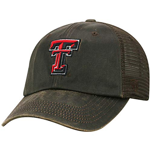Top of the World Texas Tech Red Raiders Official NCAA Adjustable Curved Bill Chesnut Hat Cap -