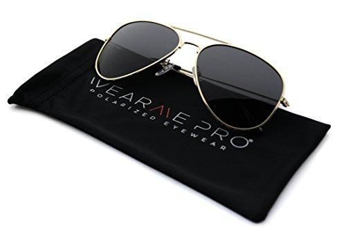 WearMe Pro - Premium Classic Fashion Design Polarized Lens Aviator Sunglasses