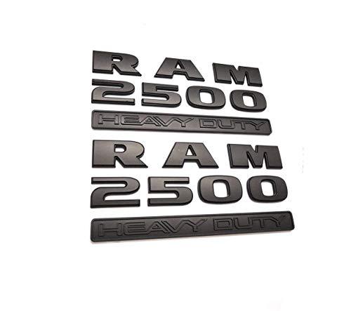 (2pcs Dodge Ram 2500 Heavy Duty Emblems Nameplate,3D ABS Stickers Decals Nameplates Auto Emblem Badge Decal for Dodge Matte)