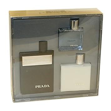 8d52d1ff Prada Amber Intense For Men 3 Pc. Gift Set ( Eau De Parfum Spray 3.4 Oz +  Aftershave Balm 3.4 Oz + Bath &...